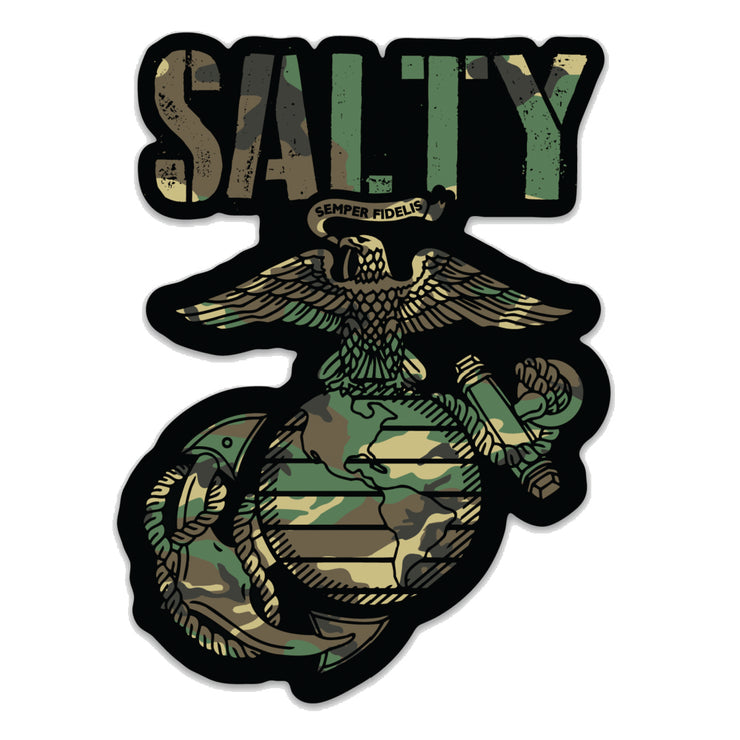 Salty Woodland Die Cut Decal