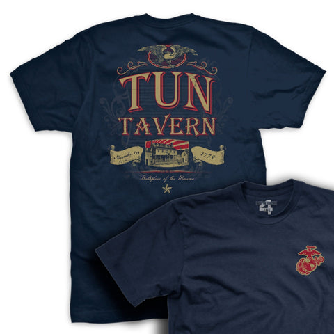 Image of Tun Tavern Eagle Vintage T-Shirt - Mens T-shirts- Leatherneck For Life