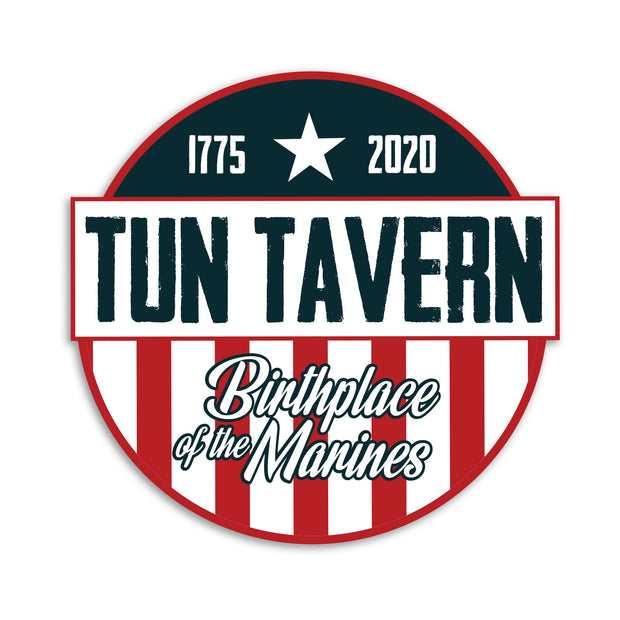 Tun Tavern Old Glory 245th Marine Corps Birthday Decal