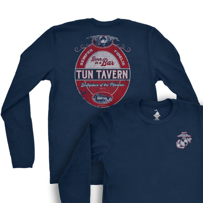 Tun Tavern Label Long Sleeve T-Shirt
