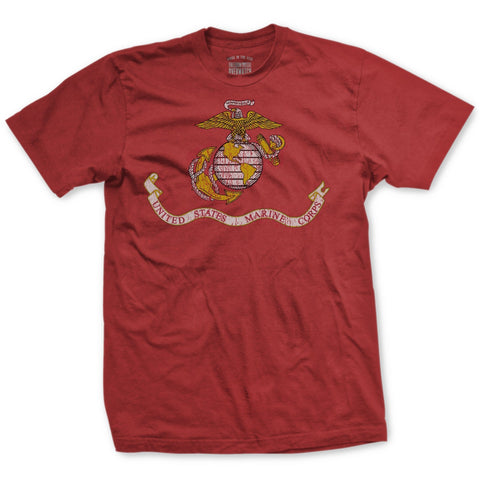 Image of USMC Flag Vintage T-Shirt - New- Leatherneck For Life