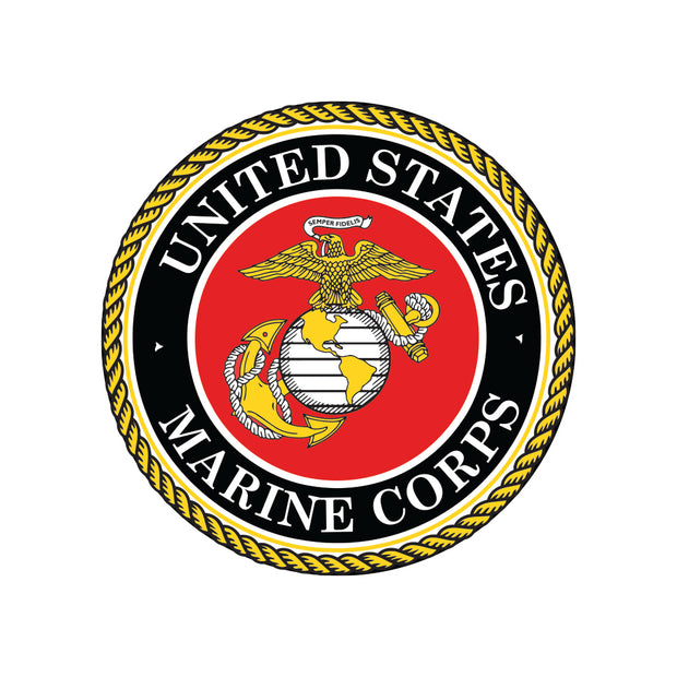 USMC Seal Round Decal