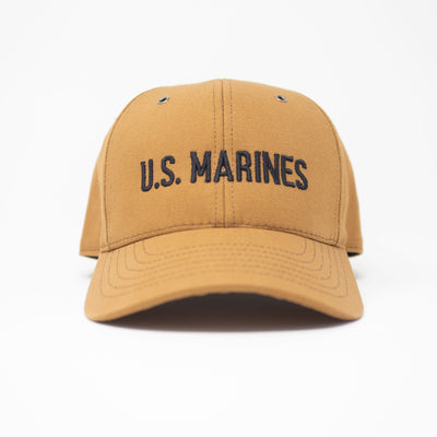 3D US Marines Work Wear Canvas Hat- Black Insignia