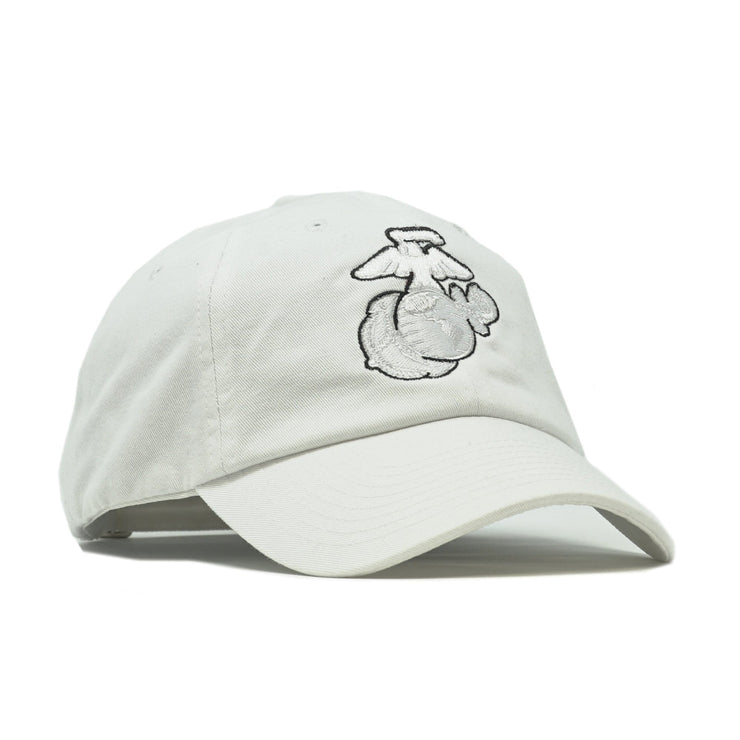 Subdued Outline EGA Unstructured Hat - White