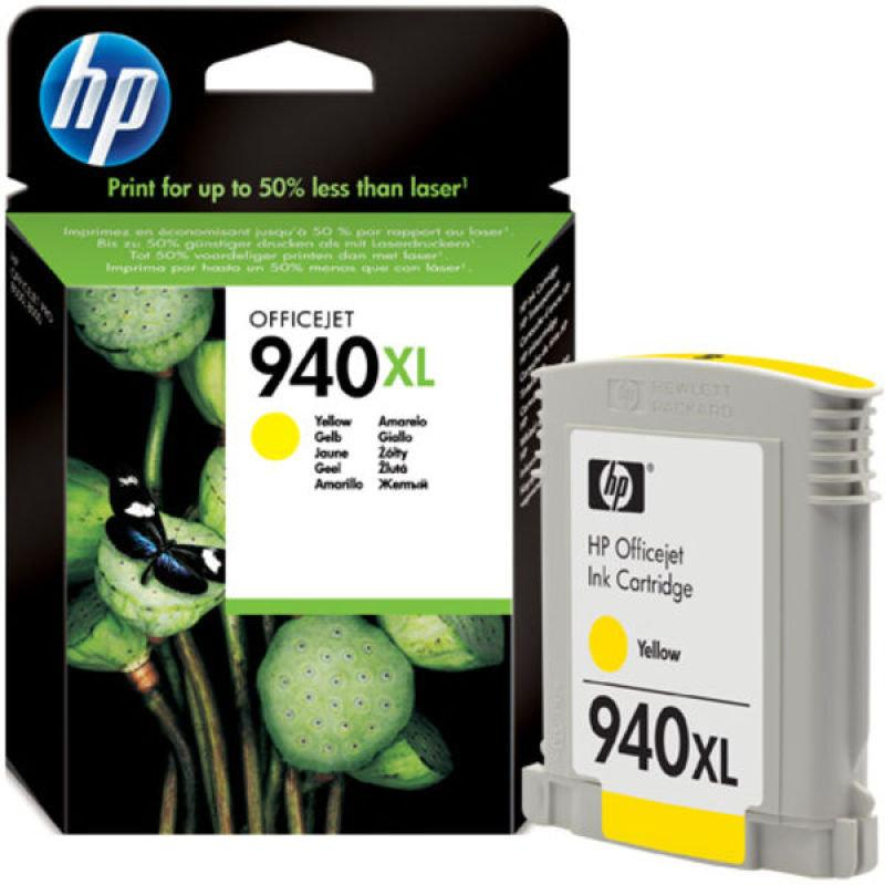 Genuine HP 940XL High Capacity Yellow Ink Cartridge - (C4909AE) - The Cartridge Centre
