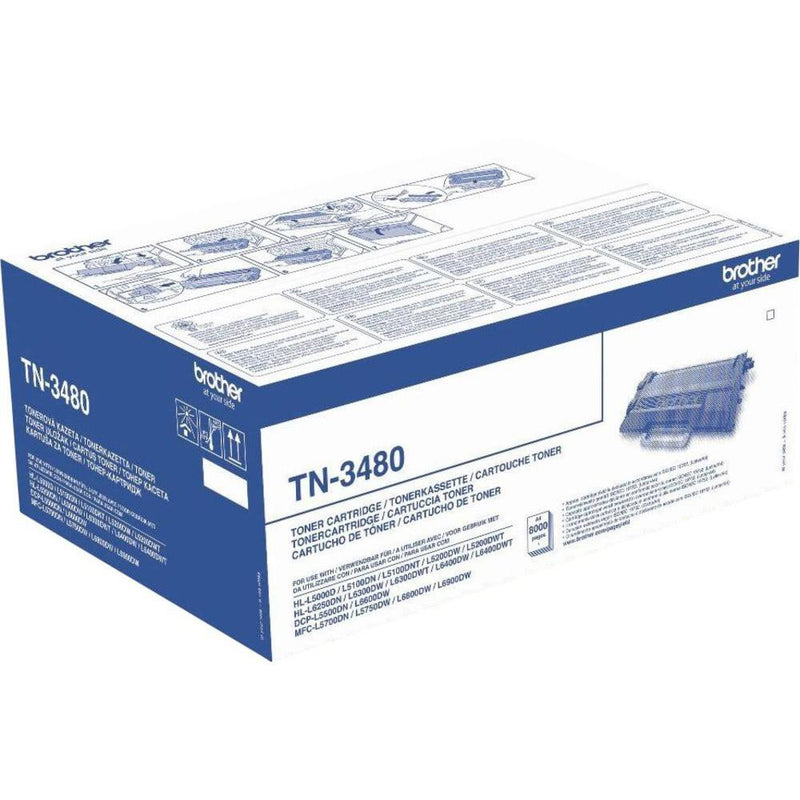 Genuine High Capacity Black Brother TN-3480 Toner Cartridge (TN3480 Laser Printer Cartridge) - The Cartridge Centre
