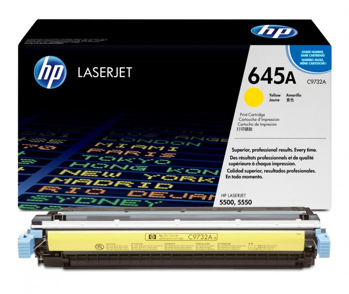 Genuine Yellow HP 645A Toner Cartridge - (C9732A) - The Cartridge Centre