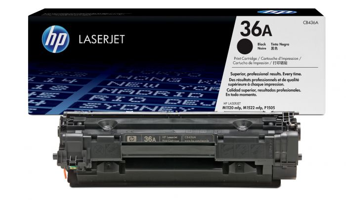Genuine Black HP 36A Toner Cartridge - (CB436A) - The Cartridge Centre