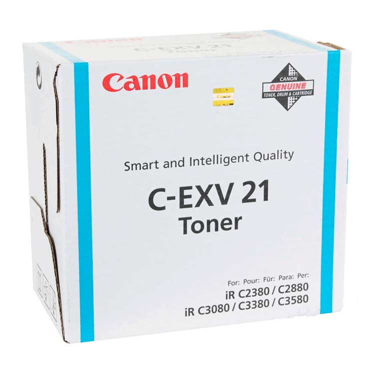 Genuine Canon C-EXV21 Cyan Toner Cartridge (0453B002AA Laser Toner Cartridge) - The Cartridge Centre