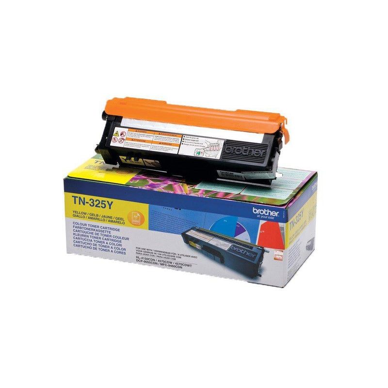 Genuine High Capacity Yellow Brother TN-325Y Toner Cartridge (TN325Y Laser Printer Cartridge) - The Cartridge Centre