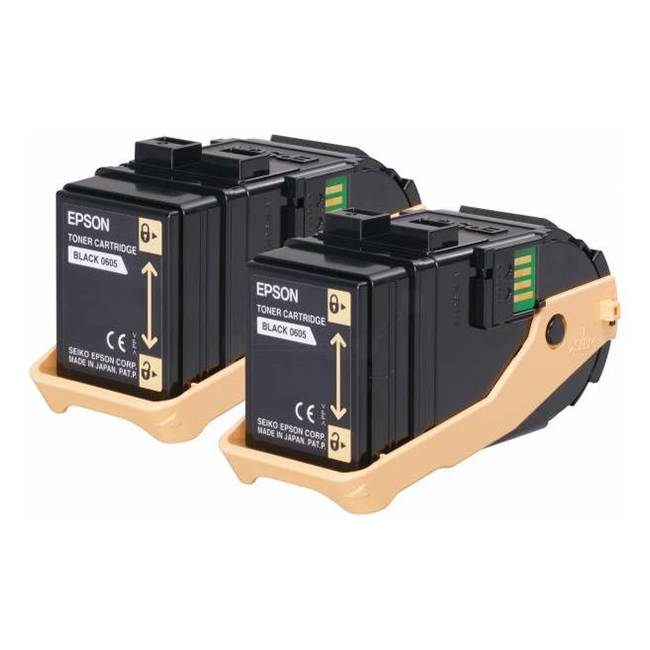 Genuine Black Epson S050609 Toner Cartridge Twin Pack - (C13S050609) - The Cartridge Centre