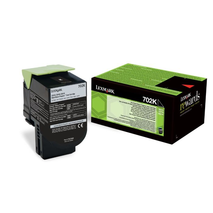 Genuine Black Return Program Lexmark 702K Toner Cartridge - (70C20K0) - The Cartridge Centre