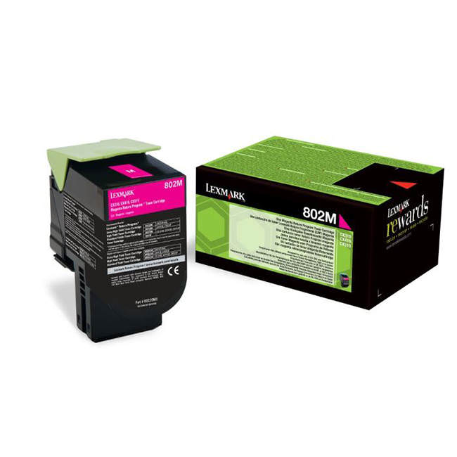 Genuine Magenta Return Program Lexmark 802M Toner Cartridge - (80C20M0) - The Cartridge Centre