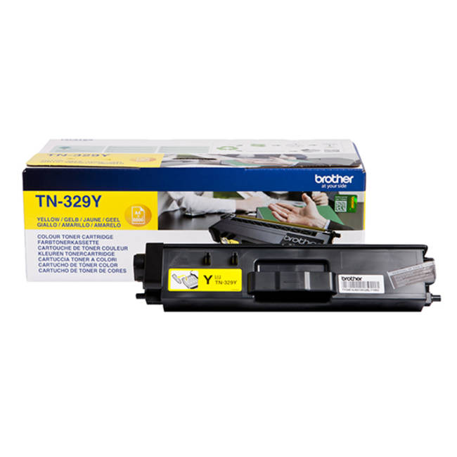 Genuine Extra High Capacity Yellow Brother TN-329Y Toner Cartridge (TN329Y Laser Printer Cartridge) - The Cartridge Centre