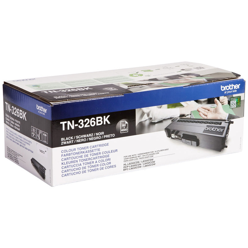 Genuine High Capacity Brother TN-326BK Black Toner Cartridge (TN326BK Laser Printer Cartridge) - The Cartridge Centre