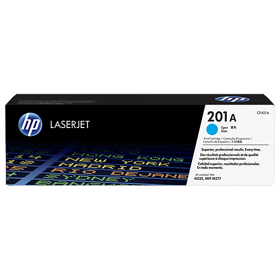 Genuine Cyan HP 201A Toner Cartridge - (CF401A) - The Cartridge Centre