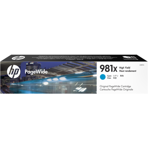Genuine High Capacity Cyan HP 981X Ink Cartridge - (L0R09A) - The Cartridge Centre