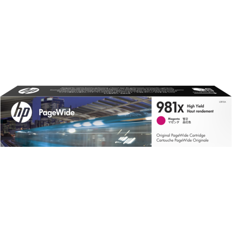 Genuine High Capacity Magenta HP 981X Ink Cartridge - (L0R10A) - The Cartridge Centre