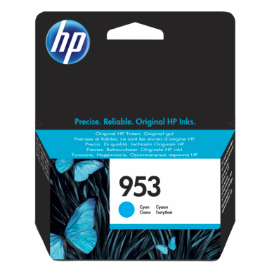 Genuine HP 953 Cyan Ink Cartridge - (F6U12AE) - The Cartridge Centre