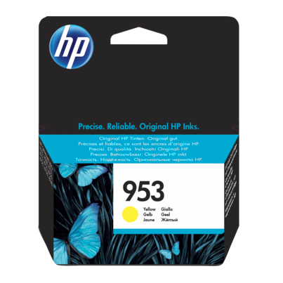 Genuine Yellow HP 953 Ink Cartridge - (F6U14AE) - The Cartridge Centre