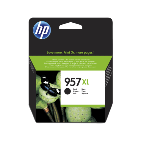 Genuine HP 957XL Extra High Capacity Black Ink Cartridge - (L0R40AE) - The Cartridge Centre