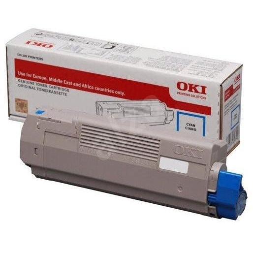 Genuine Oki 46443103 High Capacity Cyan Toner Cartridge (46443103 Laser Printer Cartridge) - The Cartridge Centre