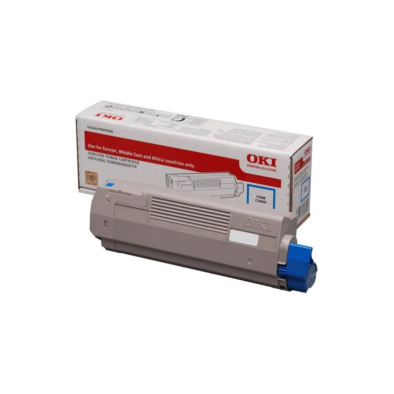 Genuine Oki 46507507 Cyan Toner Cartridge (46507507 Laser Printer Cartridge) - The Cartridge Centre