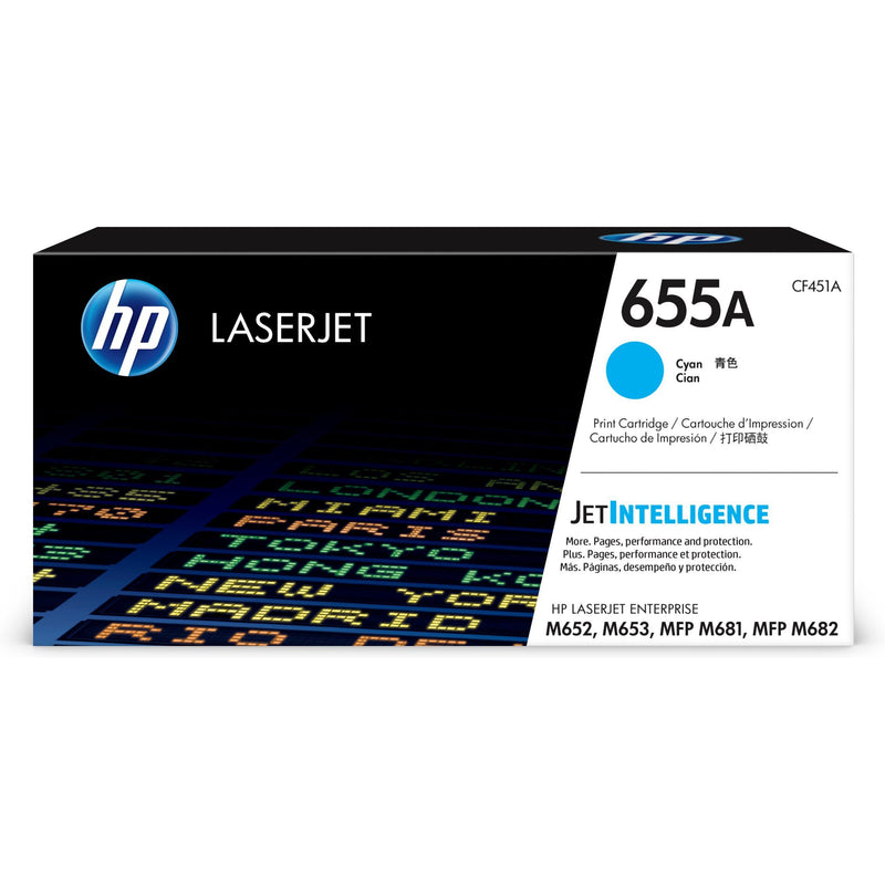Genuine Cyan HP 655A Toner Cartridge - (CF451A) - The Cartridge Centre