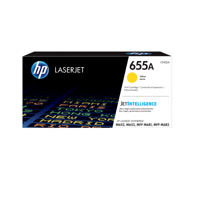 Genuine Yellow HP 655A Toner Cartridge - (CF452A) - The Cartridge Centre