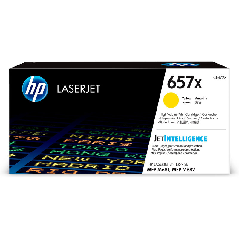 Genuine High Capacity Yellow HP 657X Toner Cartridge - (CF472X) - The Cartridge Centre