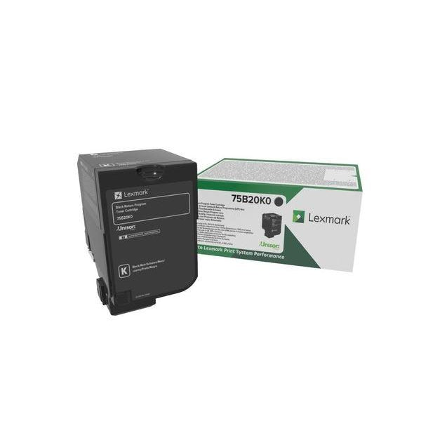 Genuine Lexmark 75B20K0 Black Return Program Toner Cartridge (Lexmark 75B20K0 Laser Printer Cartridge) - The Cartridge Centre