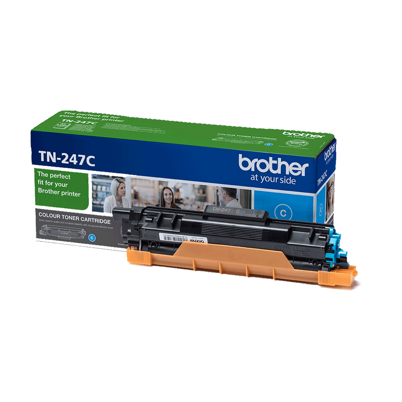 Genuine High Capacity Cyan Brother TN-247C Toner Cartridge (TN-247C Laser Printer Cartridge) - The Cartridge Centre