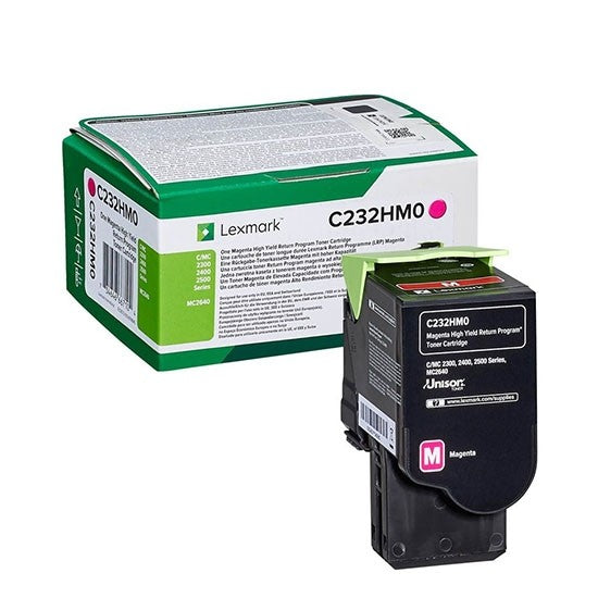 Genuine High Capacity Magenta Return Program Lexmark C232HM0 Toner Cartridge - (C232HM0) - The Cartridge Centre