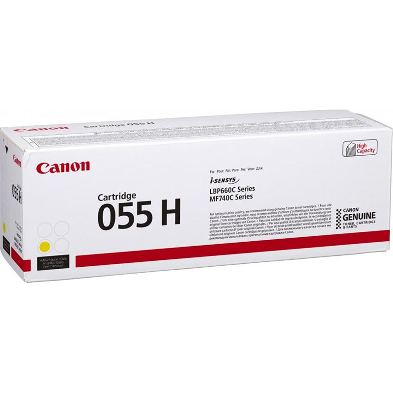 Genuine High Capacity Yellow Canon 055H Toner Cartridge - (3017C002) - The Cartridge Centre