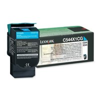Genuine Lexmark C544X1CG Extra High Yield Cyan Return Program Toner Cartridge (Lexmark C544X1CG Extra High Yield Cyan Toner) - The Cartridge Centre
