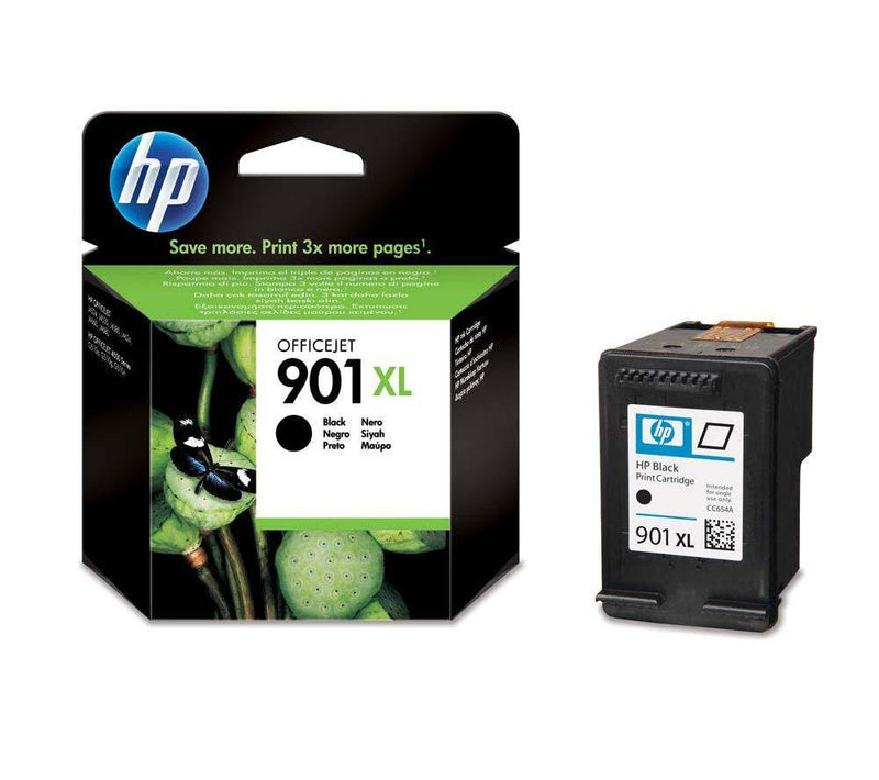 Genuine HP 901XL Black High Capacity Ink Cartridge - (CC654AE) - The Cartridge Centre