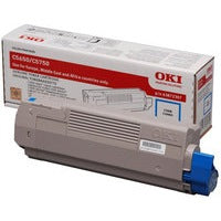 Genuine Cyan OKI 43872307 Toner Cartridge (43872307 Laser Printer Cartridge) - The Cartridge Centre