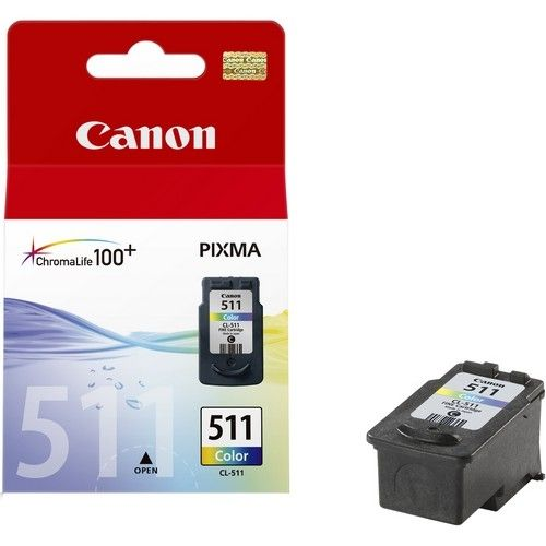 Genuine Canon CL-511 Tri-Colour Ink Cartridge - (2972B001AA) - The Cartridge Centre