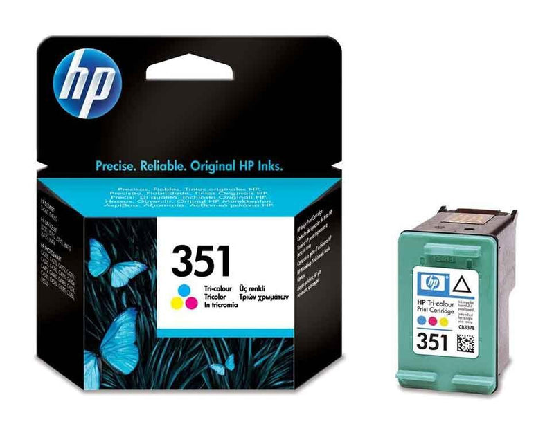 Genuine HP 351 Tri-Colour Ink Cartridge - (Vivera HPCB337EE) - The Cartridge Centre