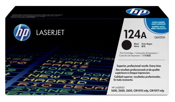Genuine Black HP 124A Toner Cartridge - (Q6000A) - The Cartridge Centre