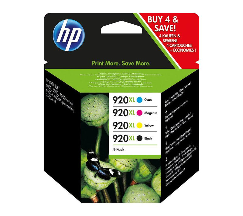Genuine HP 920XL High Capacity 4 Colour Ink Cartridge Multipack - (C2N92AE - CD975AE/CD972AE/CD973AE/CD974AE) - The Cartridge Centre