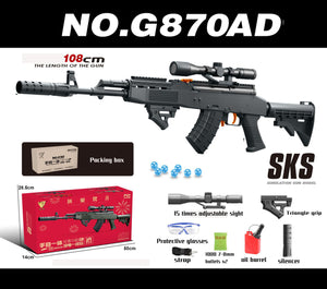 SKS Electric Battery Automatic Water Paintball Toy Gun PUBG