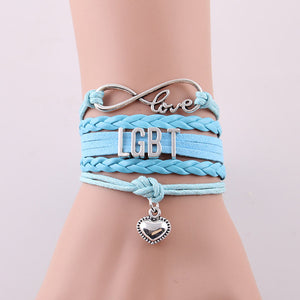 """Just Love LGBT"" Bracelet - Light Blue Edition"