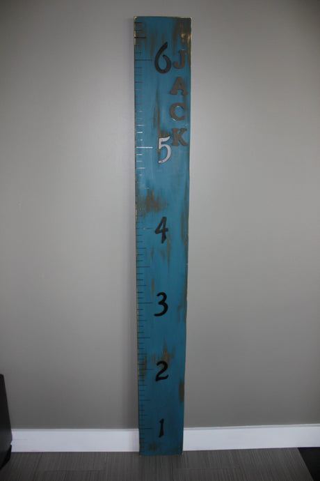 Custom height boards - Distressed Blue
