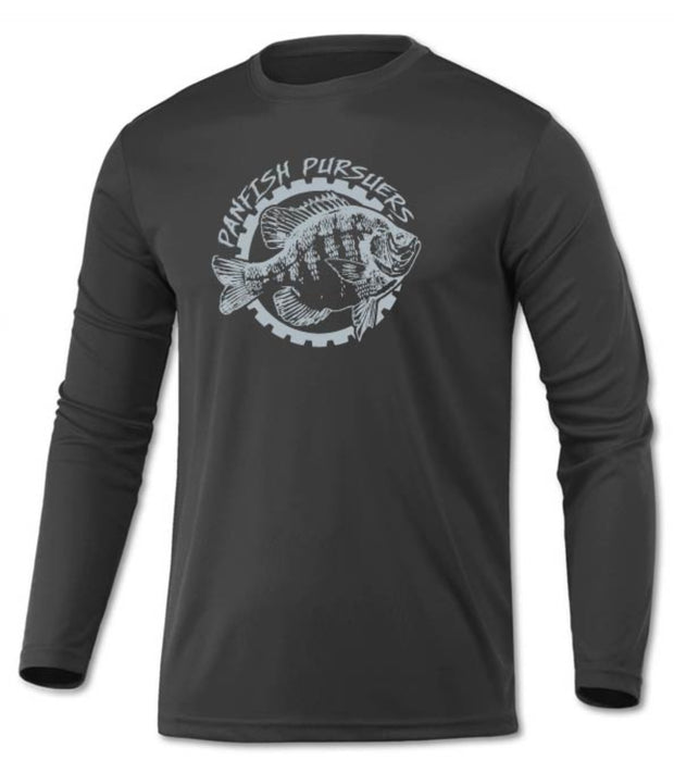 Panfish Pursuers BAW Performace Long Sleeve Shirt, Charcoal