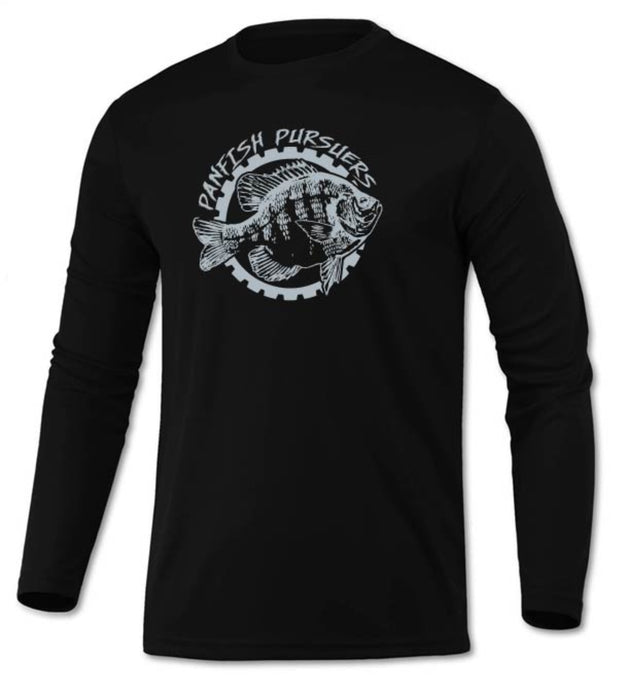 Panfish Pursuers BAW Performace Long Sleeve Shirt, Black