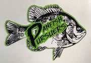 "Panfish Pursuers 2.5"" x 1.75"" Waterproof decals"