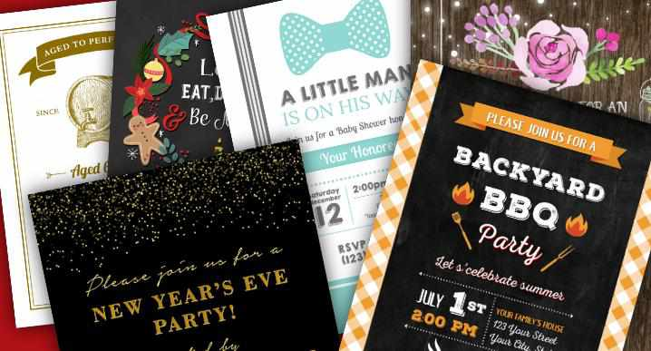 Six Free Printable Party Invitations You Can Personalize For Your Event