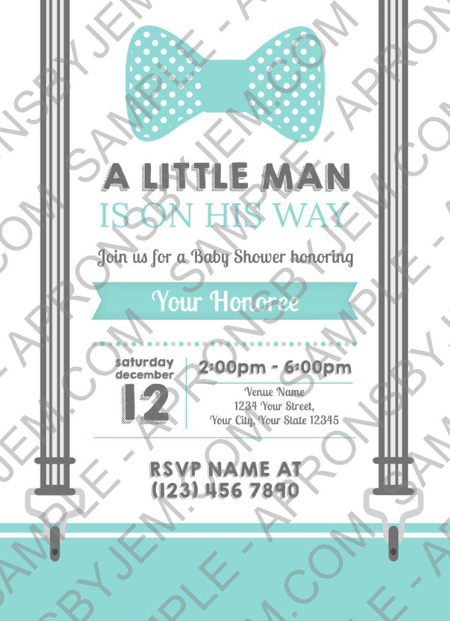 Sample image of a printable party invitation for baby showers available for download on apronsbyjem.com