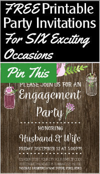preview of printable invitation for engagement party with text overlay